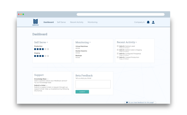 MedStack Control: Configure, manage and deploy your healthcare app infrastructure